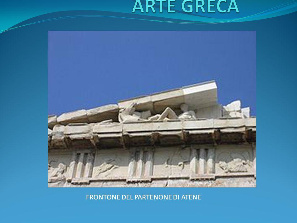 ARTE GRECA FRONTONE DEL PARTENONE DI ATENE