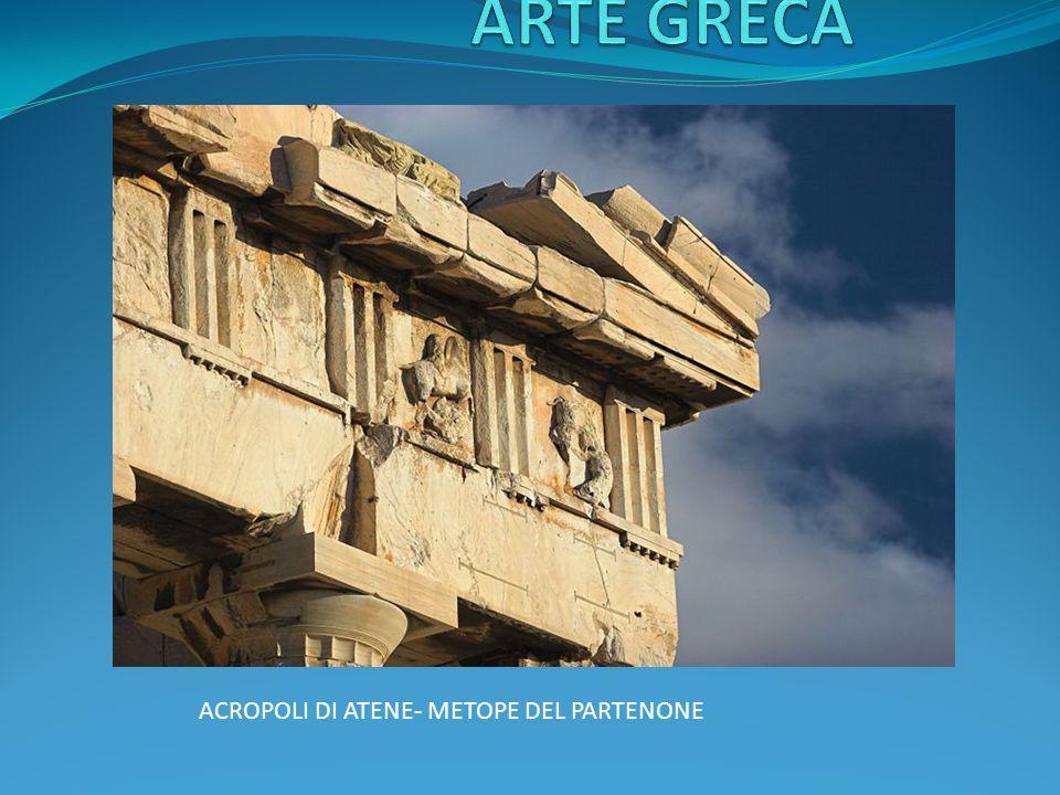 ARTE GRECA ACROPOLI DI ATENE- METOPE DEL PARTENONE