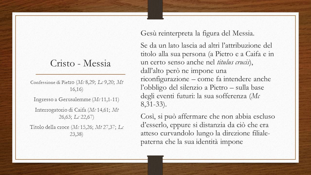 Gesù reinterpreta la figura del Messia