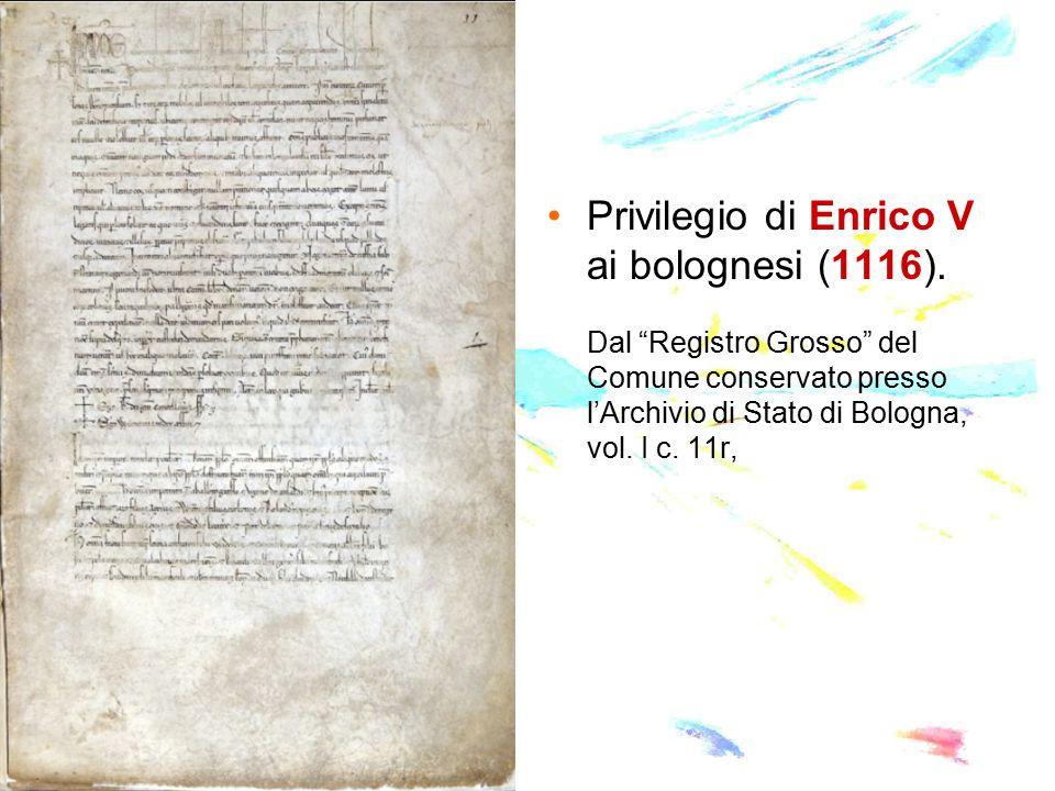 Privilegio di Enrico V ai bolognesi (1116)