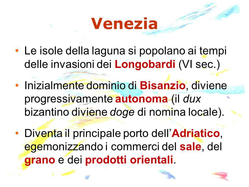 Venezia Le isole della laguna si popolano ai tempi delle invasioni dei Longobardi (VI sec.)