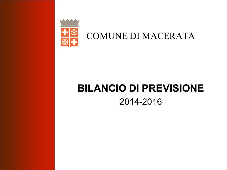BILANCIO DI PREVISIONE 2014-2016