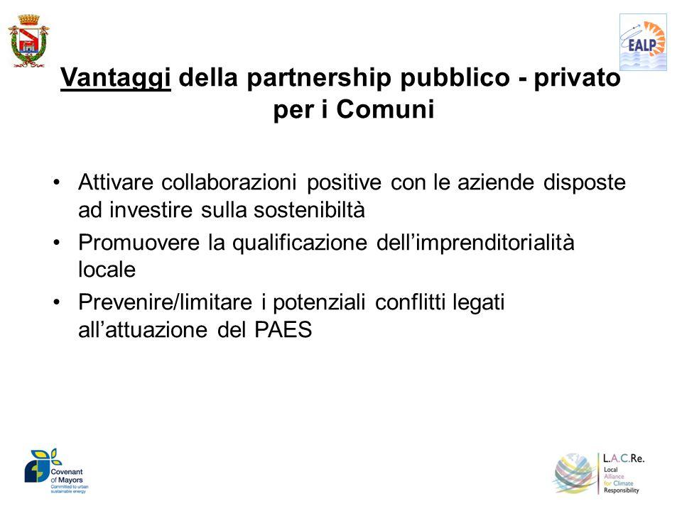 Vantaggi della partnership pubblico - privato per i Comuni