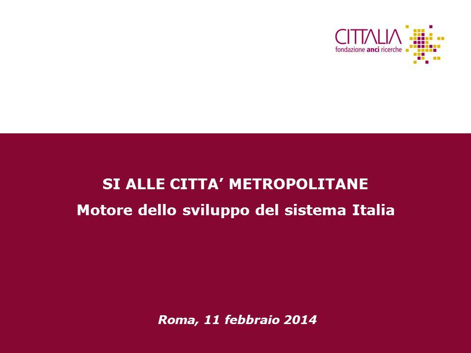 SI ALLE CITTA' METROPOLITANE Motore dello sviluppo del sistema Italia