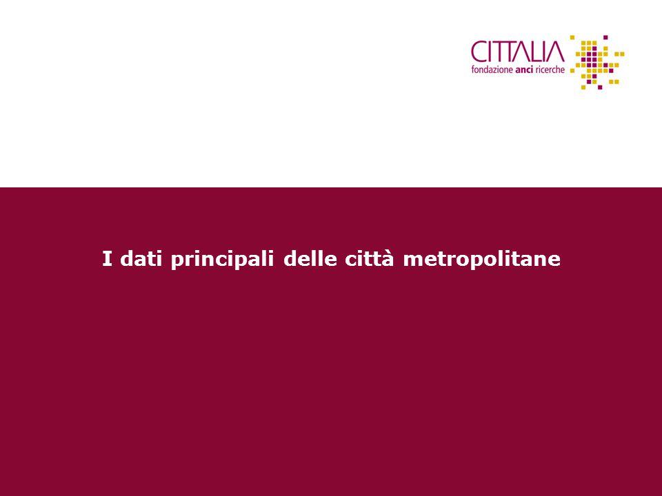 I dati principali delle città metropolitane
