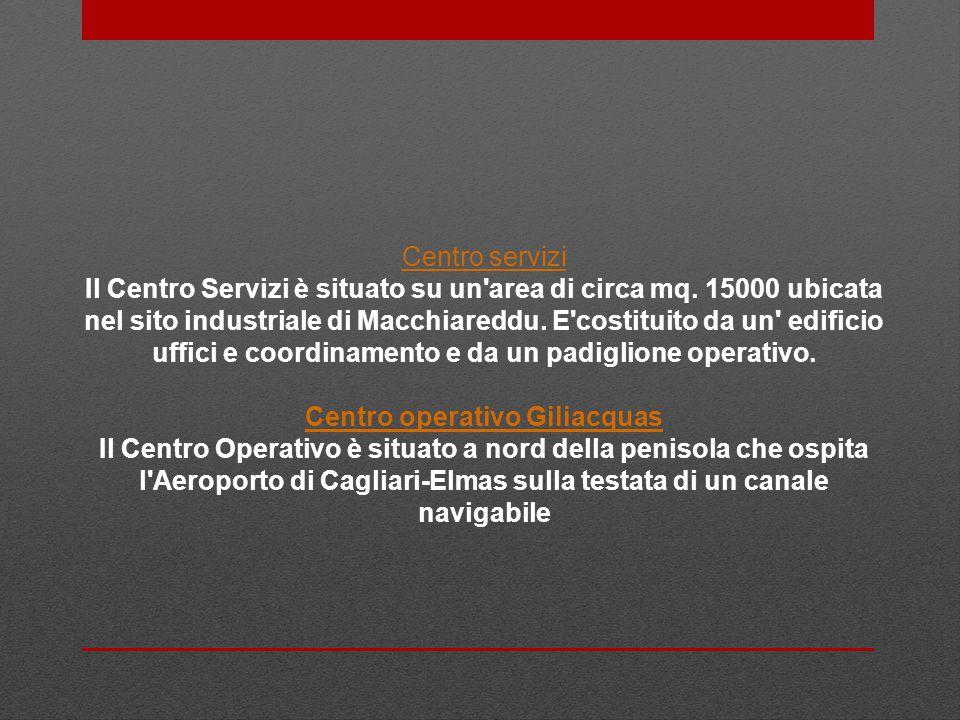 Centro servizi Il Centro Servizi è situato su un area di circa mq