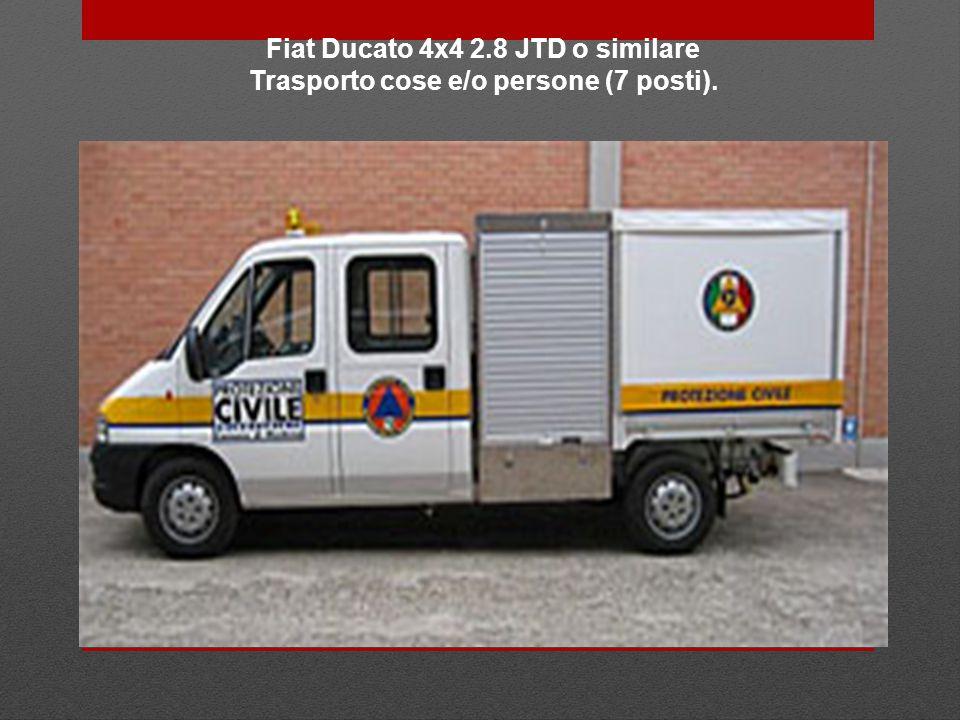 Fiat Ducato 4x4 2.8 JTD o similare