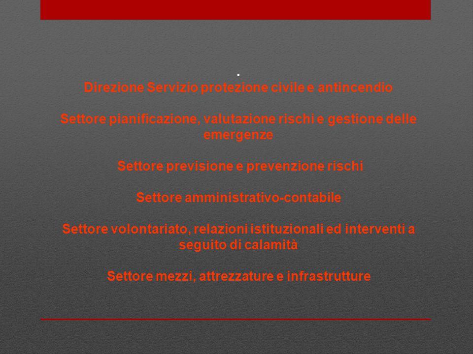 . Direzione Servizio protezione civile e antincendio