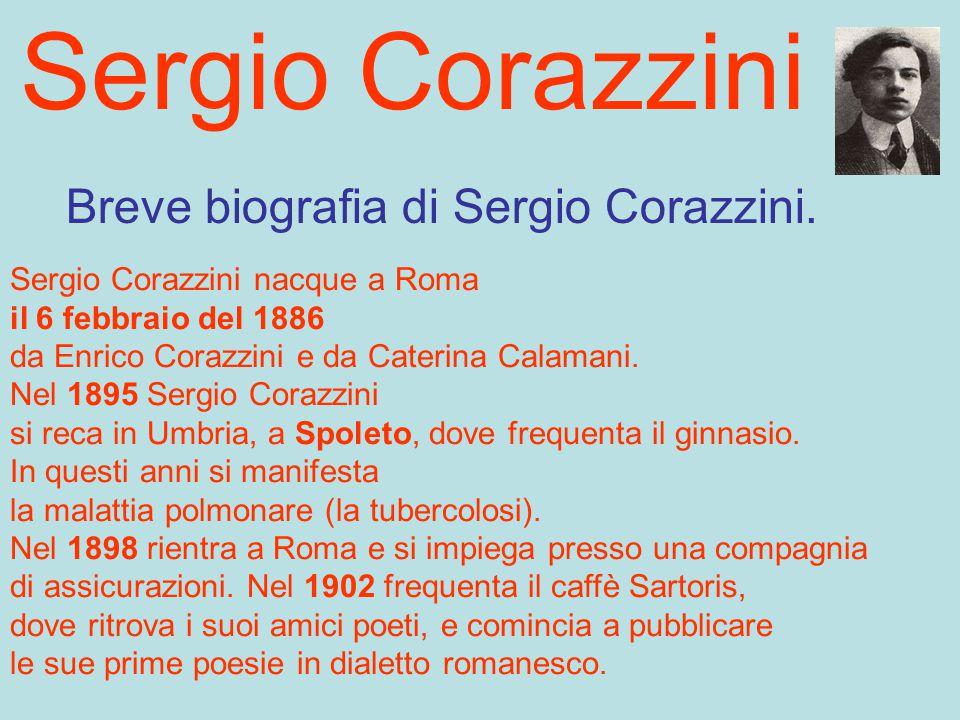 Breve biografia di Sergio Corazzini.