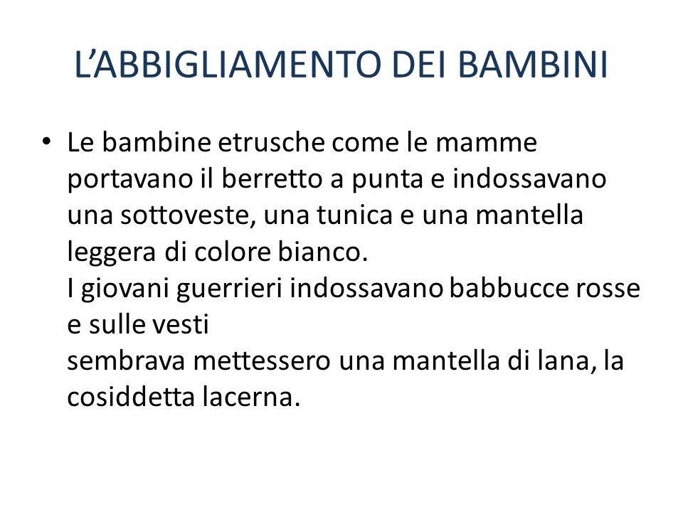 L'ABBIGLIAMENTO DEI BAMBINI