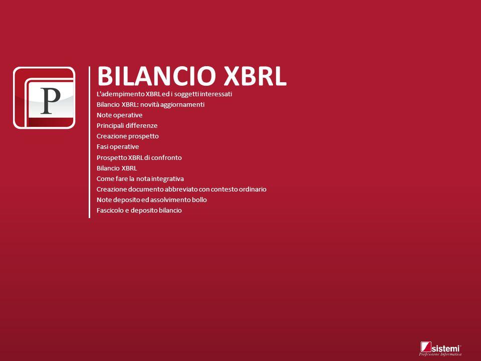 BILANCIO XBRL L adempimento XBRL ed i soggetti interessati