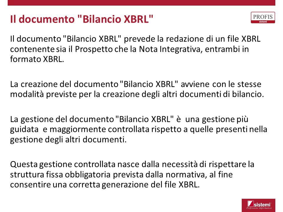 Il documento Bilancio XBRL