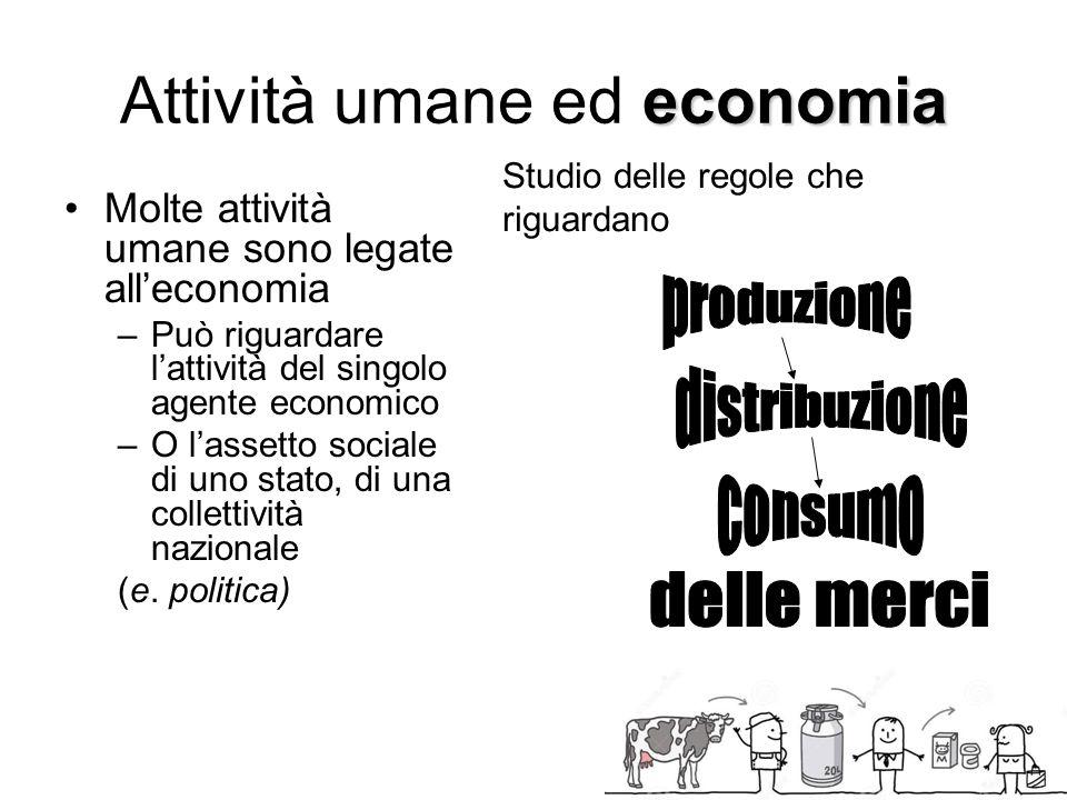 Attività umane ed economia