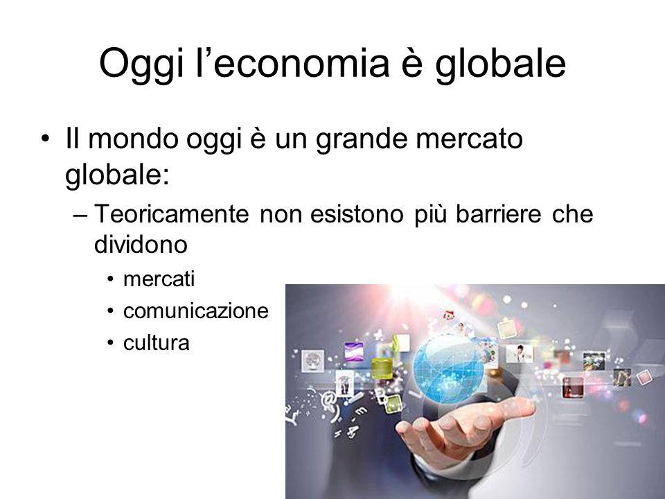 Oggi l'economia è globale