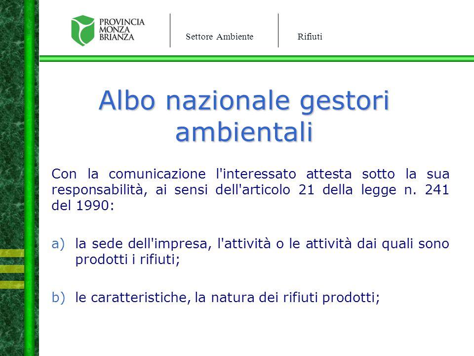Albo nazionale gestori ambientali