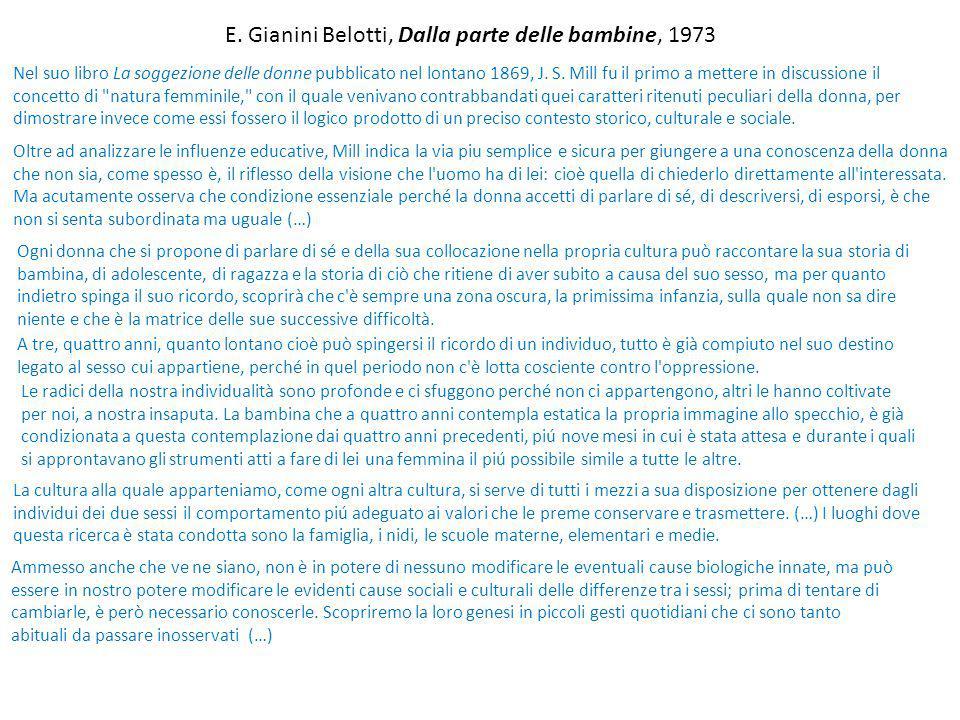 E. Gianini Belotti, Dalla parte delle bambine, 1973