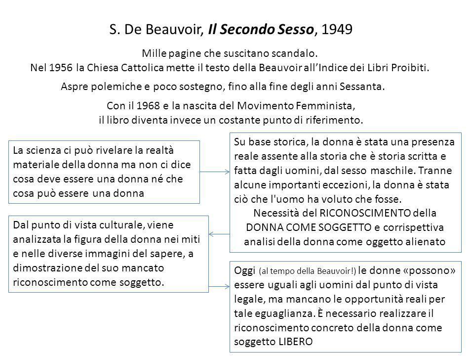 S. De Beauvoir, Il Secondo Sesso, 1949