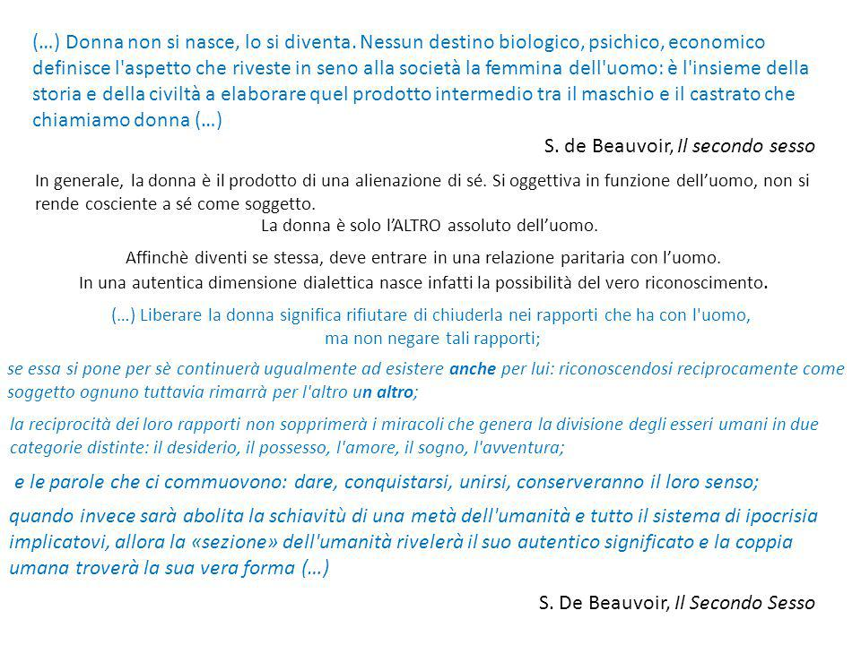 S. de Beauvoir, Il secondo sesso
