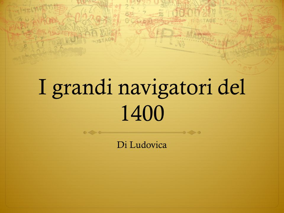 I grandi navigatori del 1400