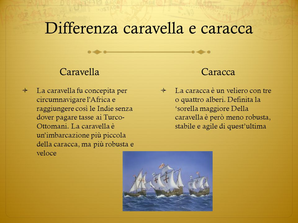 Differenza caravella e caracca
