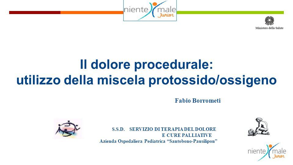 Il dolore procedurale: utilizzo della miscela protossido/ossigeno