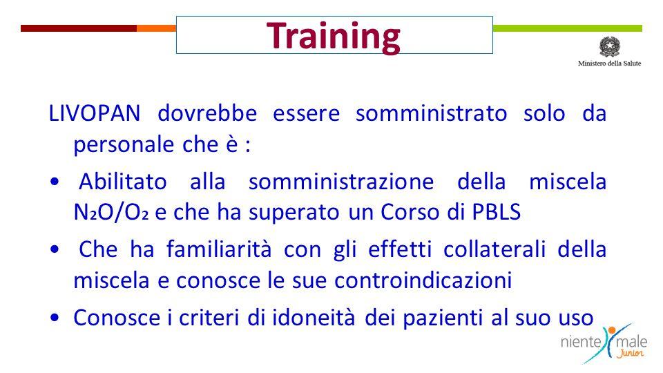 Training LIVOPAN dovrebbe essere somministrato solo da personale che è :
