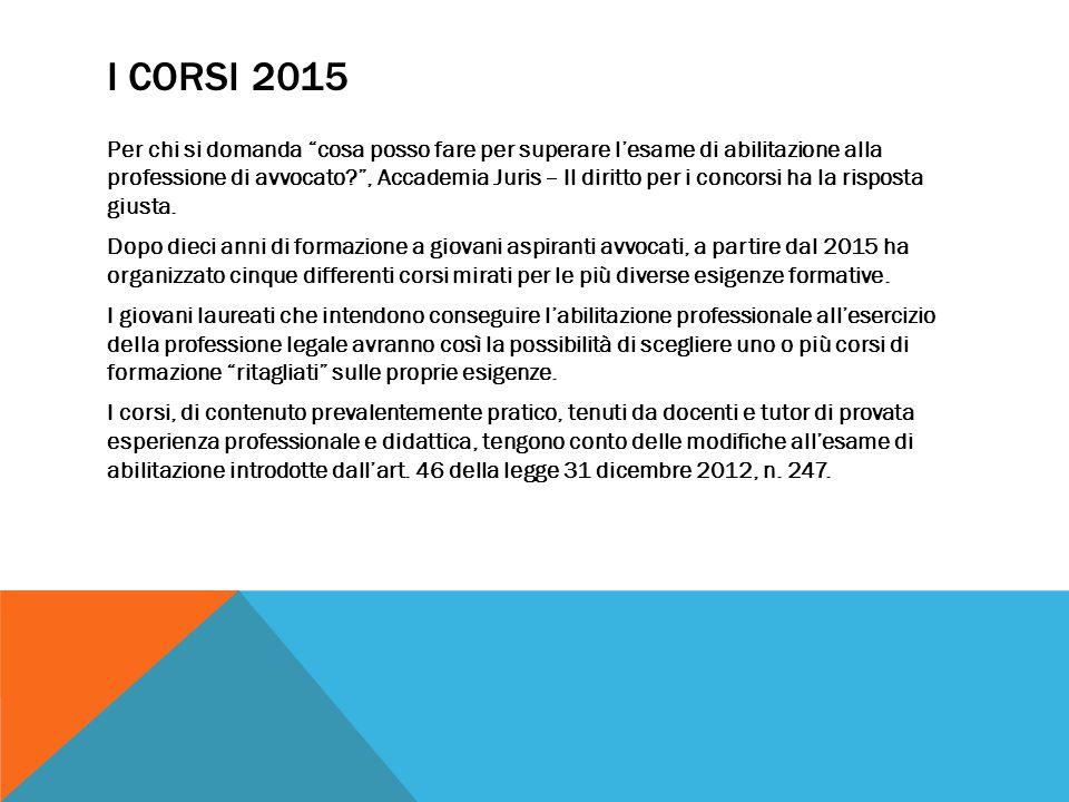I CORSI 2015