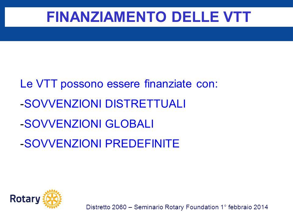 FINANZIAMENTO DELLE VTT