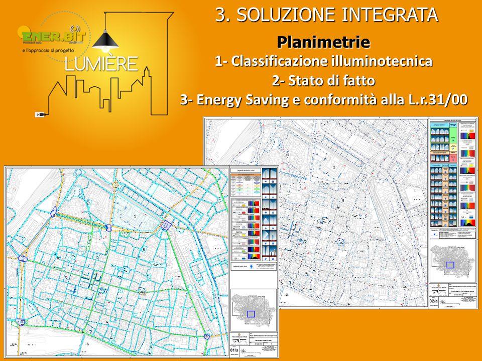 3. SOLUZIONE INTEGRATA Planimetrie 1- Classificazione illuminotecnica