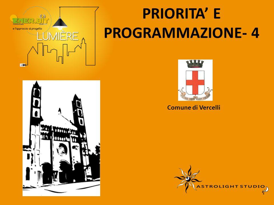 PRIORITA' E PROGRAMMAZIONE- 4