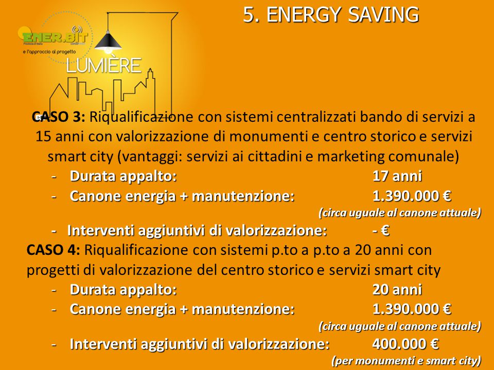 5. ENERGY SAVING