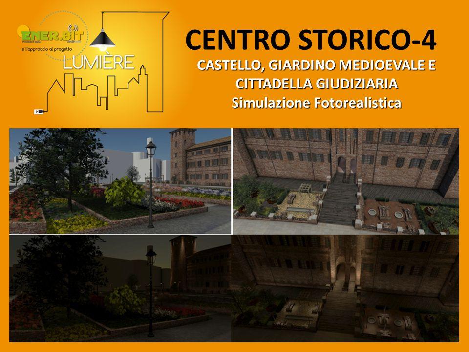 CENTRO STORICO-4 CASTELLO, GIARDINO MEDIOEVALE E CITTADELLA GIUDIZIARIA Simulazione Fotorealistica