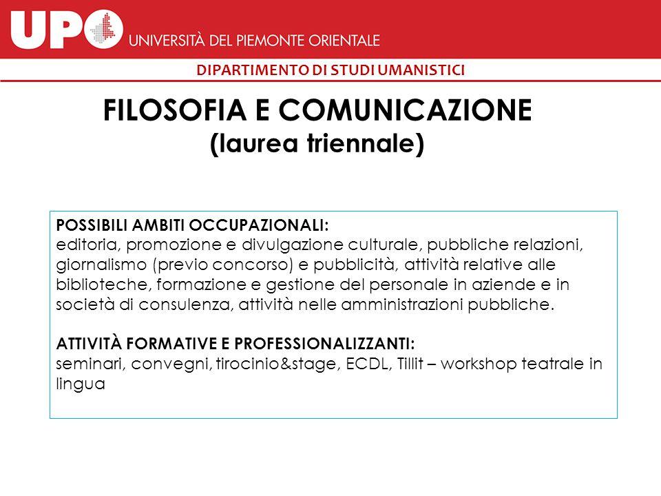 FILOSOFIA E COMUNICAZIONE (laurea triennale)