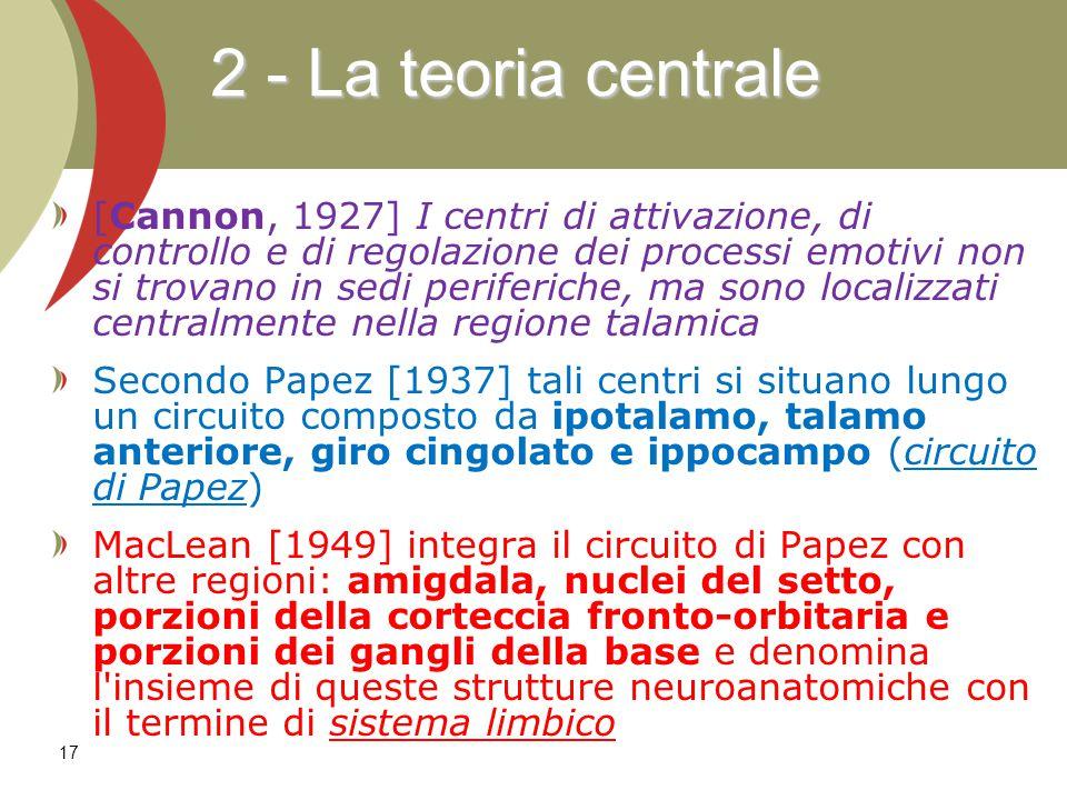 2 - La teoria centrale