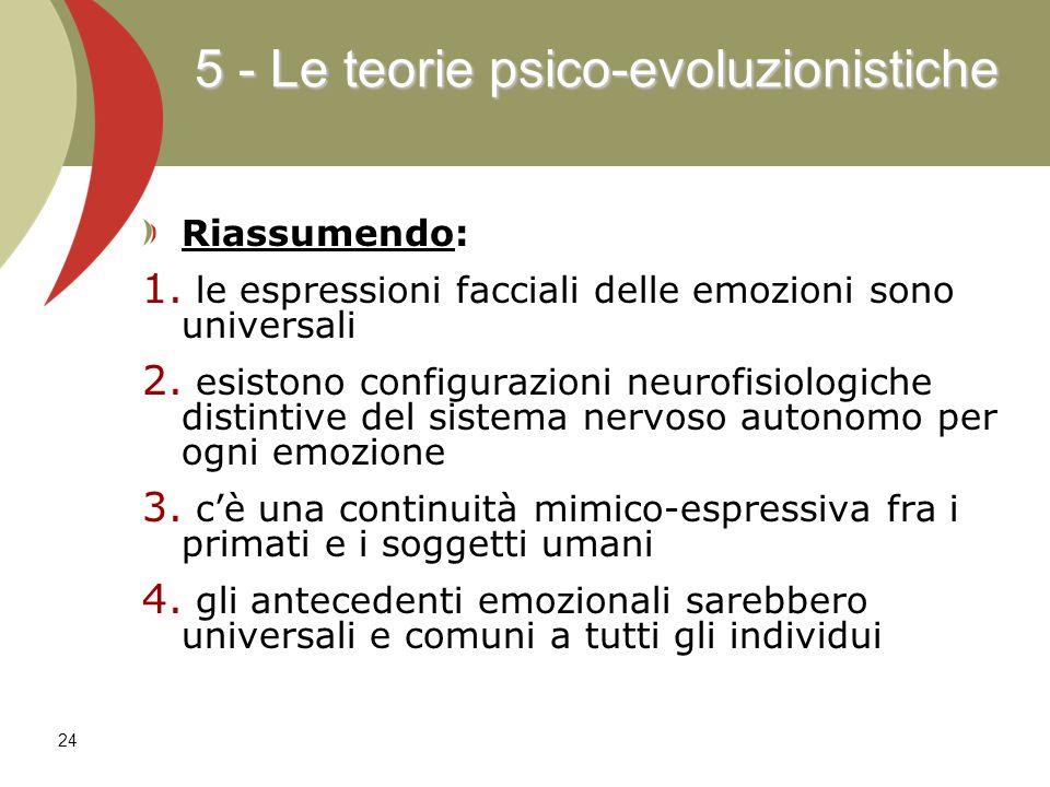 5 - Le teorie psico-evoluzionistiche
