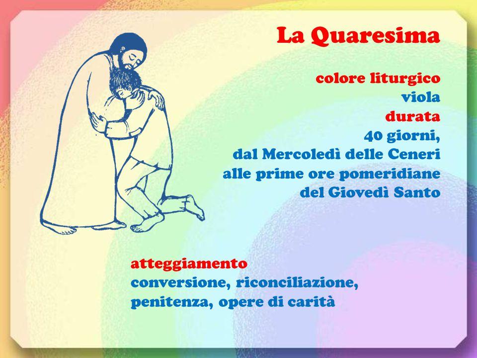 La Quaresima colore liturgico viola durata