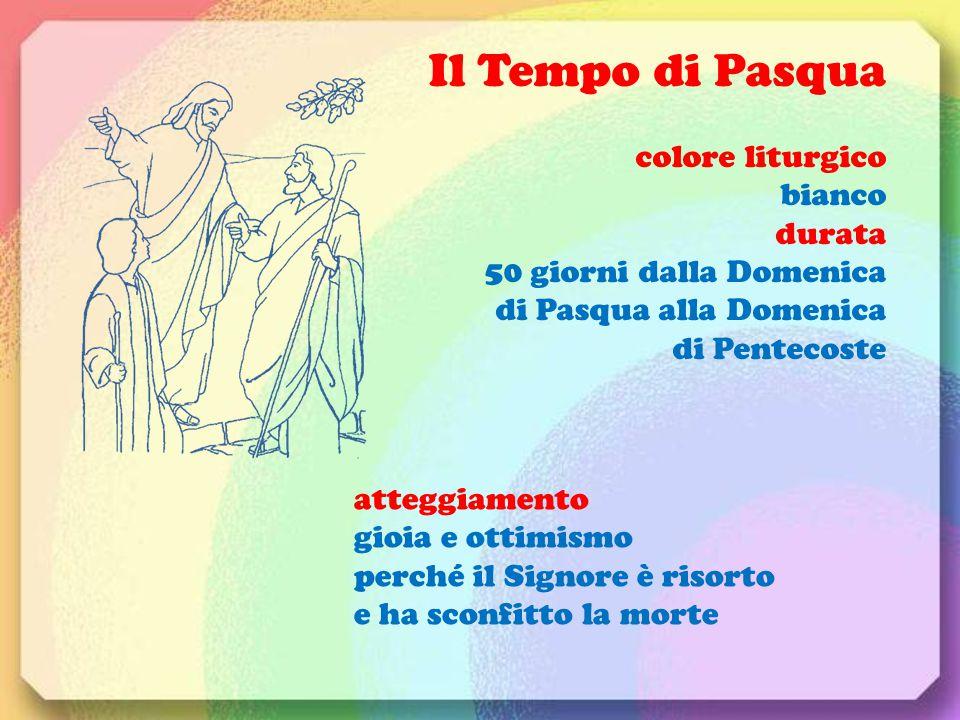Il Tempo di Pasqua colore liturgico bianco durata