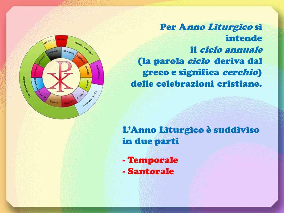 Per Anno Liturgico si intende il ciclo annuale