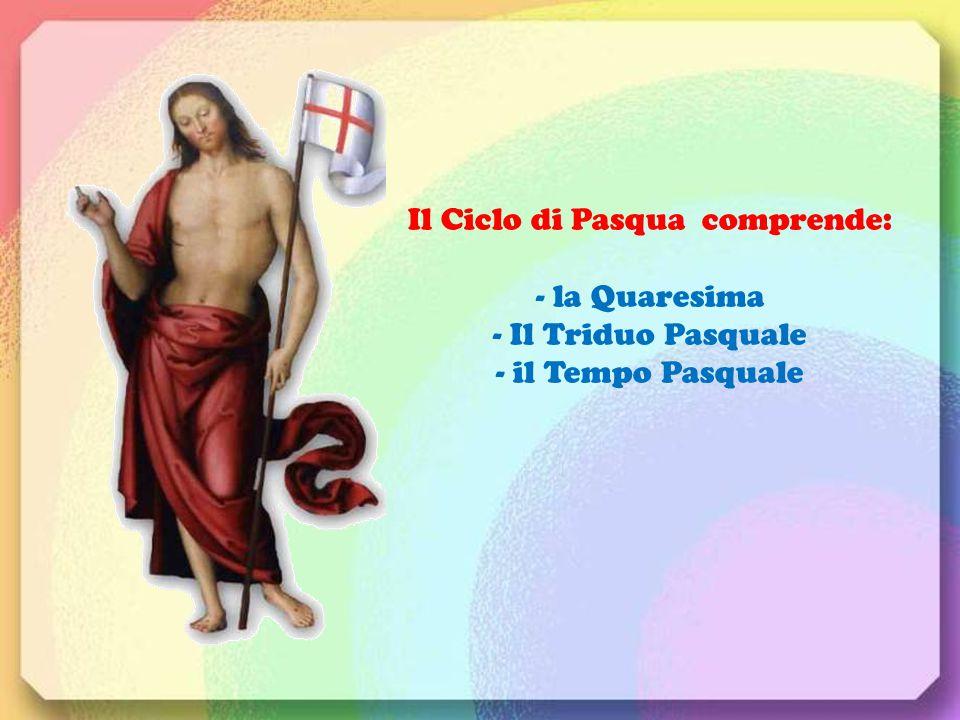 Il Ciclo di Pasqua comprende: - la Quaresima - Il Triduo Pasquale