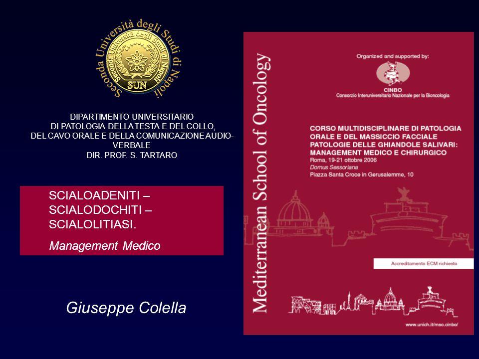 Giuseppe Colella SCIALOADENITI – SCIALODOCHITI – SCIALOLITIASI.