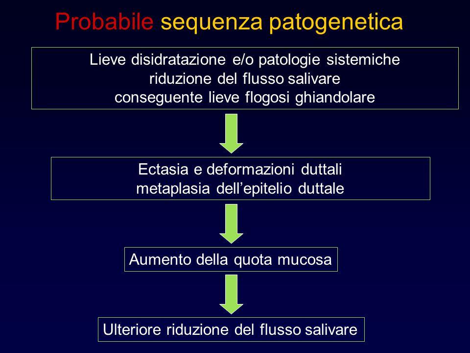 Probabile sequenza patogenetica