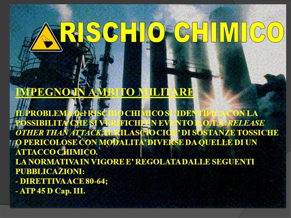 RISCHIO CHIMICO IMPEGNO IN AMBITO MILITARE