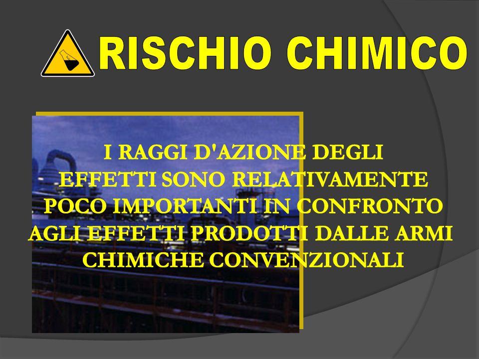 RISCHIO CHIMICO I RAGGI D AZIONE DEGLI EFFETTI SONO RELATIVAMENTE