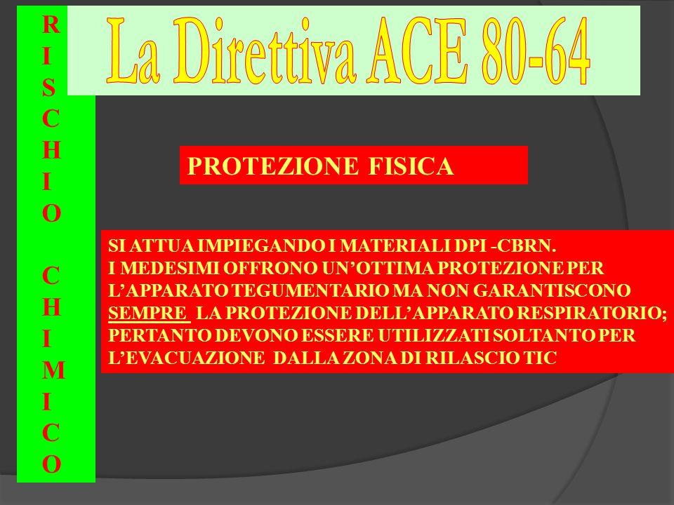 La Direttiva ACE 80-64 R I S C H O PROTEZIONE FISICA M