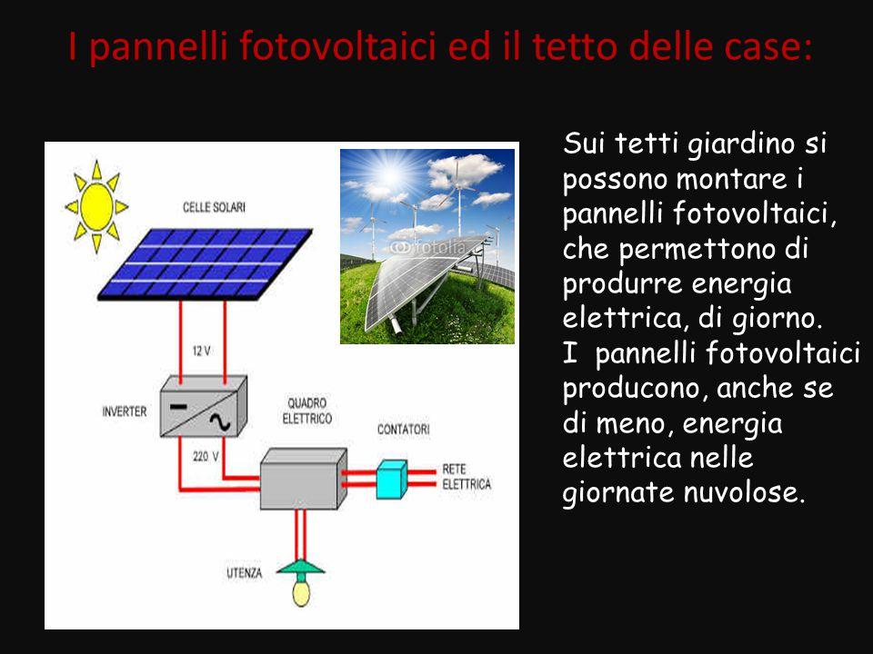I pannelli fotovoltaici ed il tetto delle case: