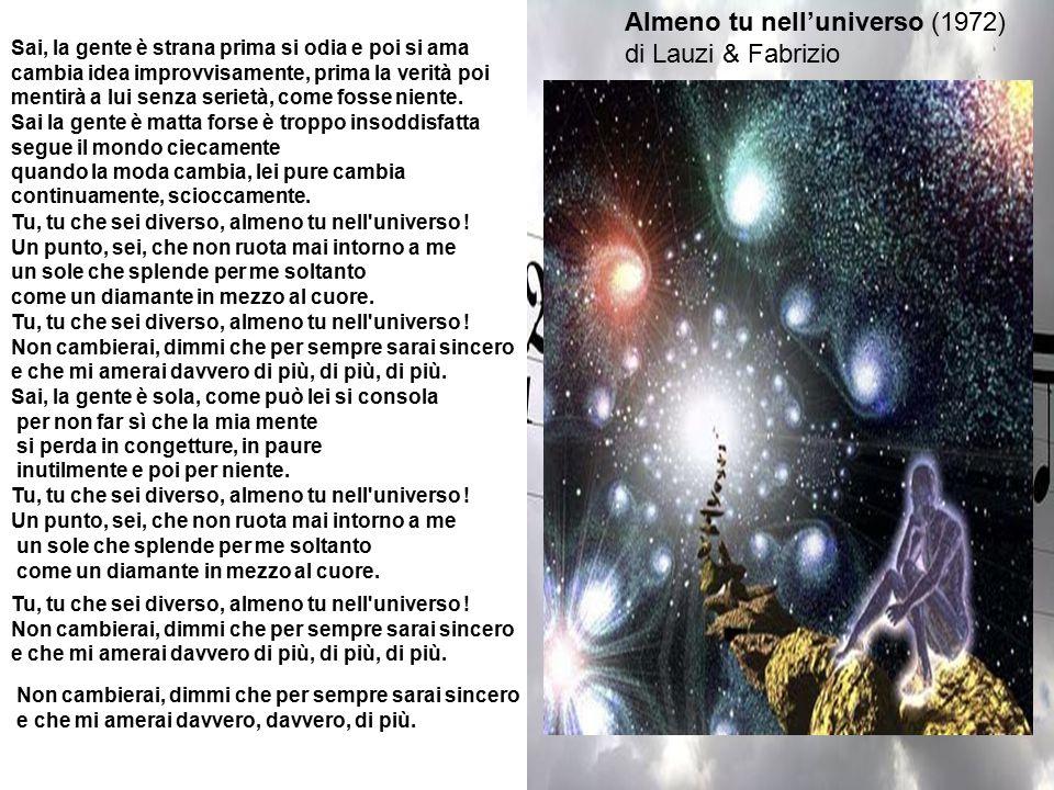 Almeno tu nell'universo (1972) di Lauzi & Fabrizio