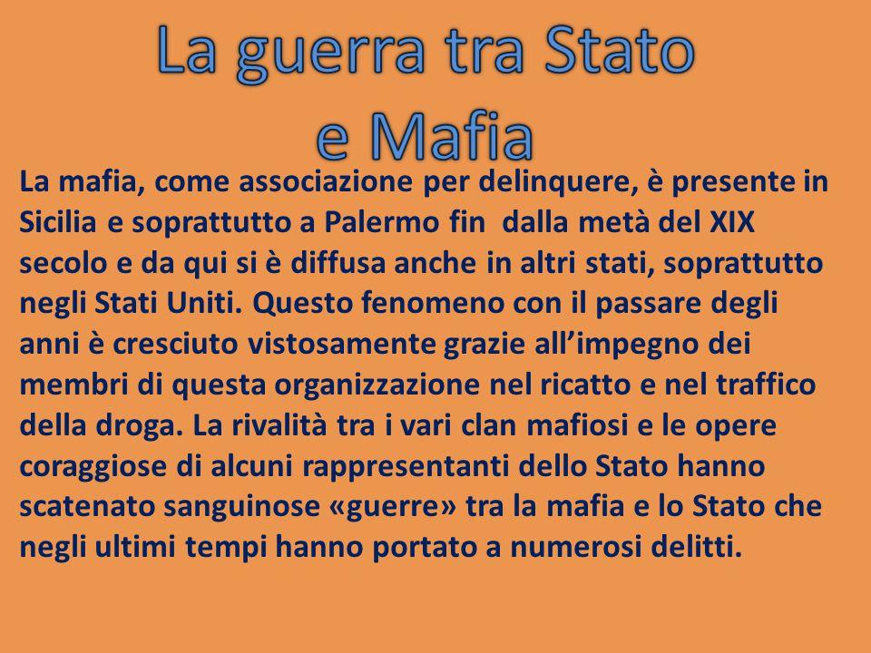 La guerra tra Stato e Mafia