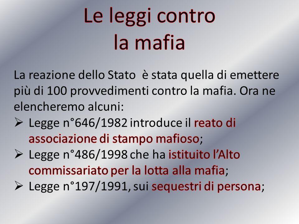 Le leggi contro la mafia
