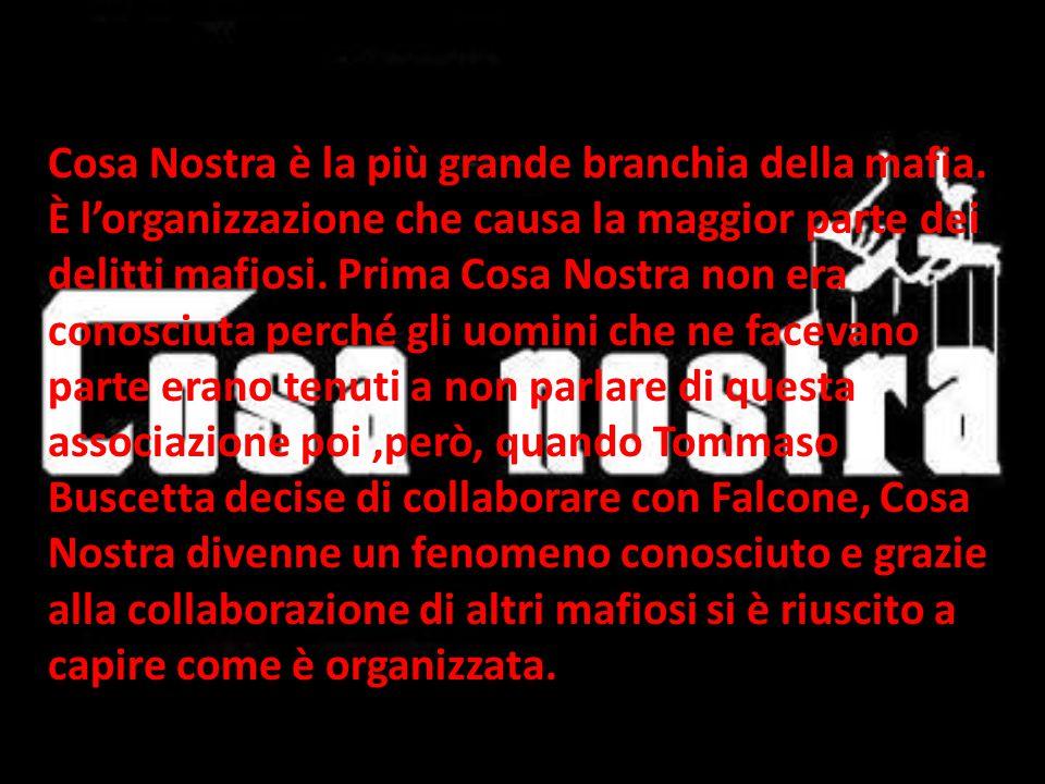Cosa Nostra è la più grande branchia della mafia