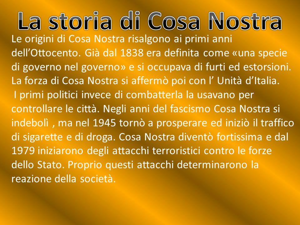 La storia di Cosa Nostra